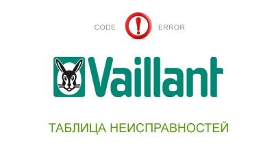 Коды ошибок Vaillant